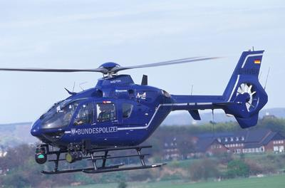 Eurocopter's EC135 proves itself yet again for civil service missions, logging 100,000 flight hours in the German Federal Police's helicopter fleet