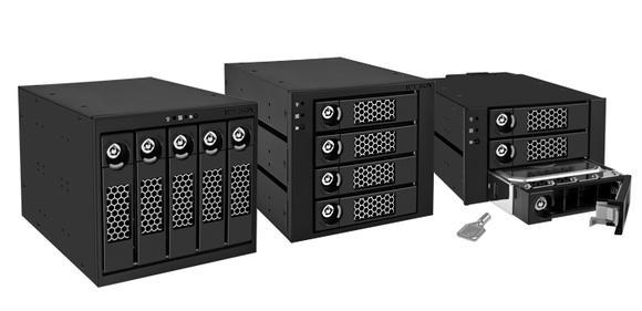ICY BOX IB-555, IB-554, IB-553 - backplanes with lockable HDD bays