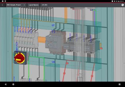 Auch das Aderrouting ist in dieser Detailansicht des Schaltschranks abgebildet /  Quelle: Eplan Software & Service GmbH & Co. KG