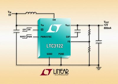 2.5A, 15V Synchronous Boost Regulator Offers 95% Efficiency, 3MHz
