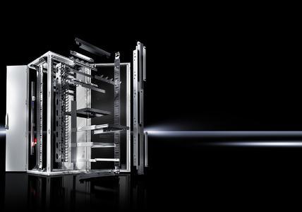 Der TS IT von Rittal überzeugt besonders durch seine große Zubehörvielfalt: Mehr als 100 Varianten sind dadurch möglich. Foto: Rittal GmbH & Co. KG