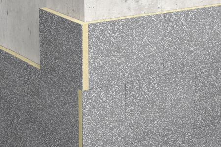 Die neue Fassadendämmplatte S 024 von Caparol: außen Dalmatiner, dazwischen Polyurethan. Foto: Caparol Farben Lacke Bautenschutz