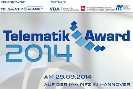 Der Telematik Award 2014 wird für den Bereich der Fahrzeug-Telematik ausgeschrieben Bild: Telematik-Markt.de