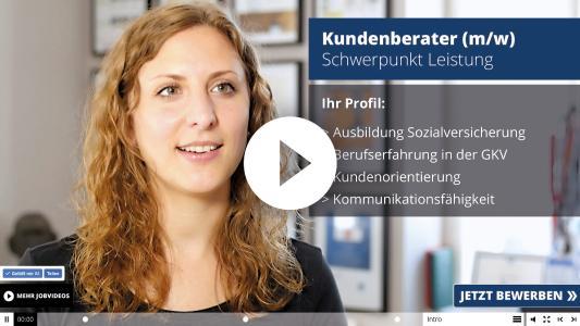 Screenshot Video-Stellenanzeige