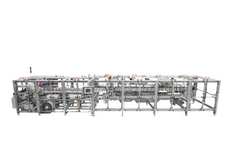 With its Innopouch Bartelt® K series KHS provides a pouching machine with a full range of servo equipment.
