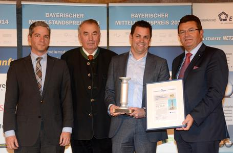 Bavarian Mid-Sized Company Award for BFFT CEO Markus Fichtner (source: EWiF)