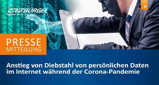 Anstieg von Diebstahl von persönlichen Daten im Internet während der Corona-Pandemie. E-Mail- und Passwortdiebstahl: Deutschland auf Platz 4
