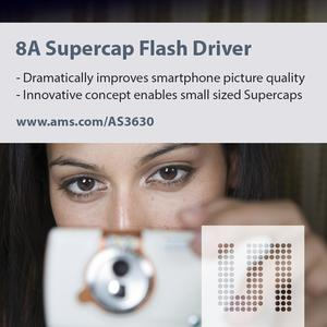 New 8A photo flash driver from ams dramatically improves picture quality of smartphone cameras