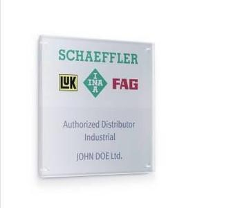 """Every certified distributor receives a plaque to position himself as an """"Authorized Distributor Industrial"""" on the market."""