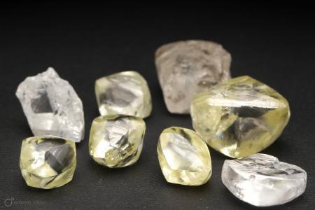 Diamanten aus dem akutellen Verkaufspaket der Mothae-Mine; Foto: Lucapa Diamond Company