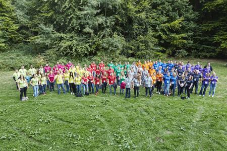 Teambuilding mit Spaßfaktor: Insgesamt 110 Logwin-Auszubildende aus verschiedenen deutschen Standorten und Geschäftsfeldern waren zum ersten Team-Event für Auszubildende gekommen. © Logwin