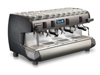 Rancilio:Kaffeemaschine der Klasse 10 mit Lederausstattung
