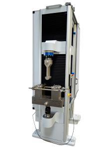 Prüfmaschine für Druck- und Biegeversuche an Betonstahl
