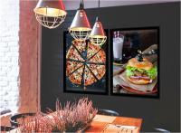 MonLines Design Wand Display Einsatz Restaurant Airport
