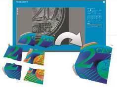 Automatisch zusammengesetztes 3D-Scanning im Präzisionsmodus mit hoher Auflösung bei großen Messfeldern