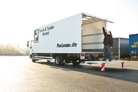 Der DAF-LF mit Kofferaufbau, flexibel, wendig und auch im neuen Standort in Gundelfingen flexibel verfügbar. Quelle: PacLease