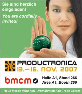 Meet bmcm at Productronica 2007!