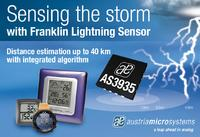 austriamicrosystems introduces the world's first Lightning Sensor IC targeting low power, portable applications