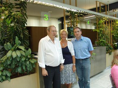 Von links nach rechts: Dietmar Bartsch, Rosemarie Ziegler, Jens Rösler (IT Leiter)