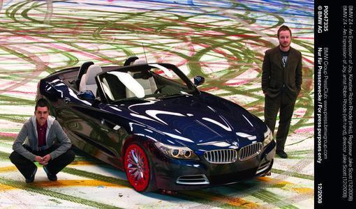 BMW Z4 - An Expression of Joy, Künster Robin Rhode (links), Regisseur Jake Scott