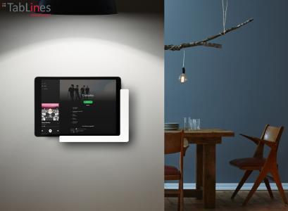 TabLines TWP Tablet Wandhalterung  mit Ladefunktion Anwendung Wohnraum