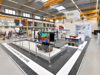 LogiMAT goes Hamlar: Der 160 m2 große Messestand wurde kurzerhand im Innovation Center des Unternehmens aufgebaut