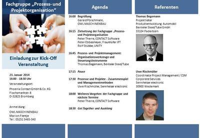 Fachgruppe Prozess- und Projektmanagement