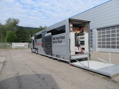 SCHULER MOTORHOME RACE TRAILER SERVICE TRUCK