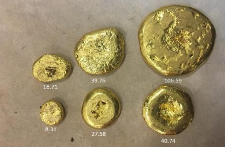 Gold von der Cascavel-Mine; Foto: Orinoco Gold