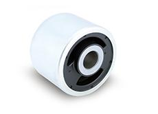 Hydro bushings provide greater comfort in driver cabs than do classic bushings. The integrated fluid system reliably insulates against undesired rotational movements (Photo: ContiTech)