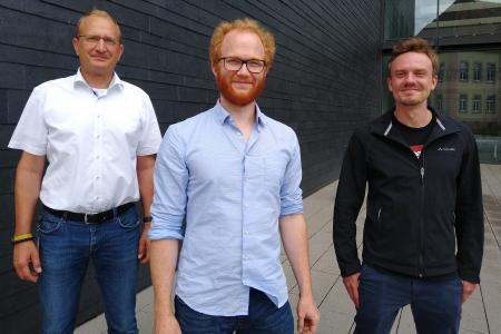 The team of the newly established joint venture Endress+Hauser BioSense: Managing Director Dr Nicholas Krohn, Dr Stefan Burger and Dr Martin Schulz (from left)