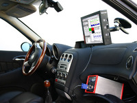 Providing new views in the vehicle area with the automotive display aDP800