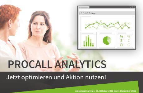 ProCall Analytics stellt Kommunikationsdaten in übersichtlichen Dashboards dar