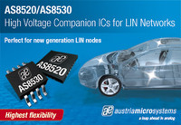 austriamicrosystems announces high voltage automotive CMOS LIN 2.1 transceiver ICs with add ons enabling powerful LIN slaves