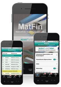 MatFin – die neue Materialfinder-App für Dichtungswerkstoffe von REXIO.