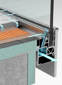 Geländersystem AQUA VIVA mit integrierter Balkonentwässerung