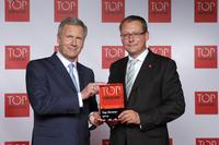 Preisverleihung TOP CONSULTANT durch Bundespräsident a.D. Wulff an Geschäftsführer Franz Berno Breitruck