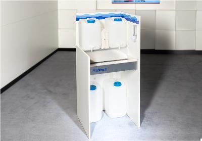 ISIWash Hygienestation, Handwaschbecken für Schulen, Klassenräume und andere private und öffentliche Einrichtungen