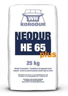 Der Hartstoffestrich Neodur HE 65 plus basiert auf dem bereits seit Jahrzehnten eingesetzten HE 65 und ist mit einer speziellen Polymer-Beimischung versehen, um die Frost- und Tausalzbeständigkeit nochmals zu erhöhen / Bild: KORODUR, Amberg