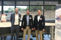 CU-Team in Oak Ridge: Sven Blanck, Dr. Bastian Brenken, Dr. Gunnar Merz vertreten den deutschen Leichtbau bei der Transatlantic Cluster Roadshow (v.l.n.r.)