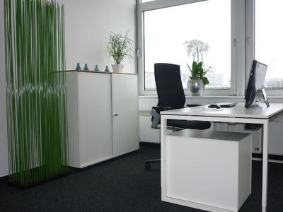 Die Mietbüros im TELiAS Business Center sind geschmackvoll und hochwertig ausgestattet.