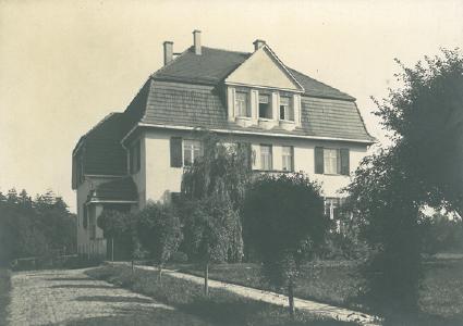 Ansicht der Villa von 1908