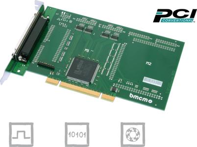 PCI-PIO: Digital I/O card - counter card - incremental encoder card
