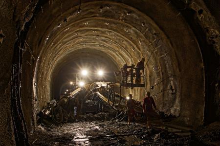 Work in the research tunnel Innsbruck-Ahrental / © Brenner Base Tunnel BBT SE