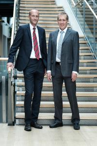 Management der SSS International Clinical Research - Dr. Lars Behrend (links) und Dr. Michael Sigmund (rechts)