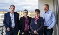 Die Geschäftsführer der Gesellschaften: v.l. Uwe Kielhorn (SASKIA®), Philipp Winkel und Jana Meinel (VOCUS), Ulf Heinemann (Robotron)