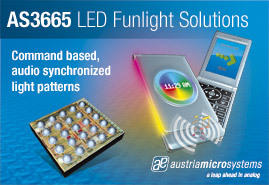 austriamicrosystems new funlight LED Driver adds fun and functionality to portable applications