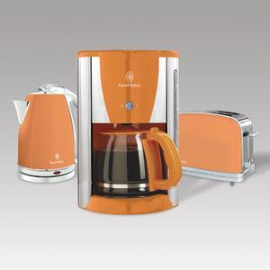 Russell Hobbs verzaubert Ihre Küche mit dem Hot Orange Frühstücksset