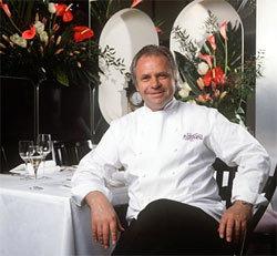 Eckart Witzigmann in seinem Restaurant Aubergine in München