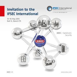 ABUS UK stellt auf der Messe IFSEC International in Birmingham Videoüberwachungslösungen vor